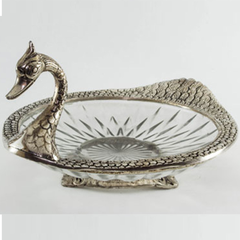 Metal Glass Serving Duck