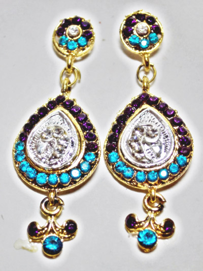 Stone Studded Turquoise Set