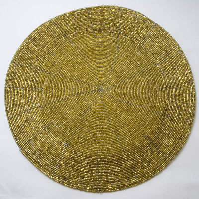 Champagne Gold Beaded Placemat