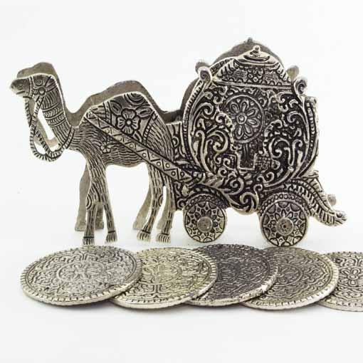 Camel Cart Antique Coaster Set