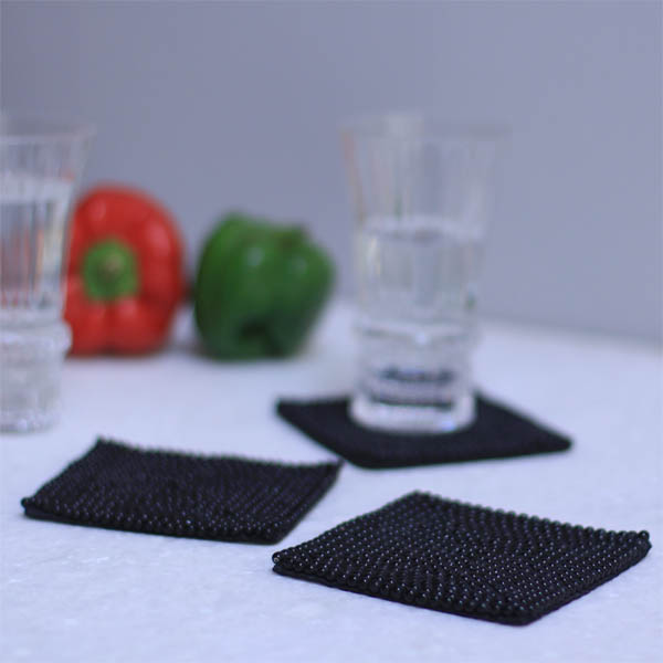 Black beauty Coasters (4 Pcs)