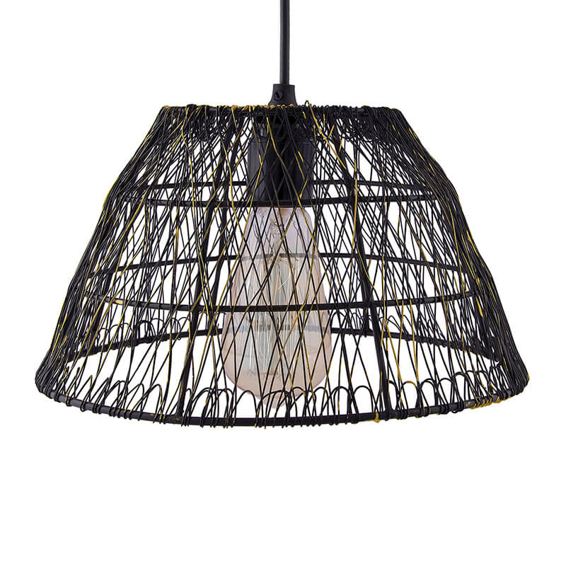 Metal Wire Mesh Lamp Shade Hanging Light Ceiling Pendant