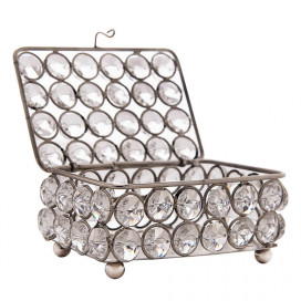 Rectangle Small Crystal Jewellery Box