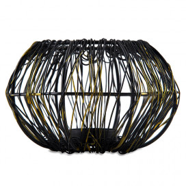 Wire Tangle Large Votive Black, Metal Candle Holder Stand with Free Candle