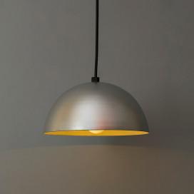 """Metallic Silver Pendant Hanging Light, Hanging Lamp 8"""""""