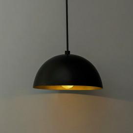 """Metallic Black Pendant Hanging Light, Hanging Lamp 8"""""""