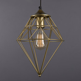 Golden Vintage Edison Filament Hanging Classic Gem , E27 Hanging Ceiling Light for LED/Filament Bulb, Decorative Urban Retro Lighting