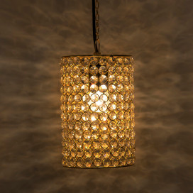 Crystal Hanging Cylinder Pendant, Hanging Ceiling Light
