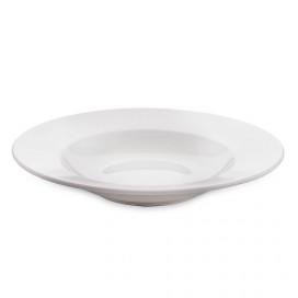 White Fine Porcelain Soup Plate, Bone China for Pasta, Gravy, Serving