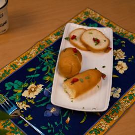 White Fine Porcelain Serving Stripes Platter, White Serving Dish Tray for Chips, Nachos, Pasta