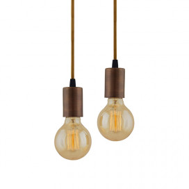 Edison Filament Antique Copper Bulb Holder, Urban, Retro, Nordic Style, with Fixture, Set of 2