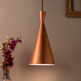 Metal Modern Hanging Light, E26/27 Nordic Pendant Lamp, Inverted Cone Shaped Kitchen, Bedroom, Living Room Ceiling Lamp
