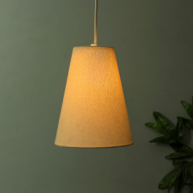 Khadi Fabric Hanging Cone Light, Pendant Ceiling Light E27