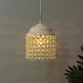 Crystal Hanging Cylinder Light, Ceiling Light, Nordic E27 Pendant