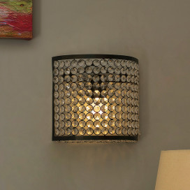 Crystal French Wall Sconce Lamp, Decorative Door Light, Crystal