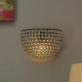 Crystal Round Wall Sconce Lamp, Decorative Door Light, Crystal