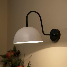 "Metallic Pendant 8"" Wall Sconce Gooseneck Retro Wall Light Fixtures for Bedroom Nightstand, Barn Warehouse"
