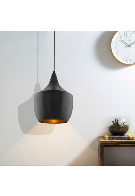 Metal Modern Hanging Light, E26/27 Nordic Pendant Lamp, Pear Shaped Kitchen, Bedroom, Living Room Ceiling Lamp