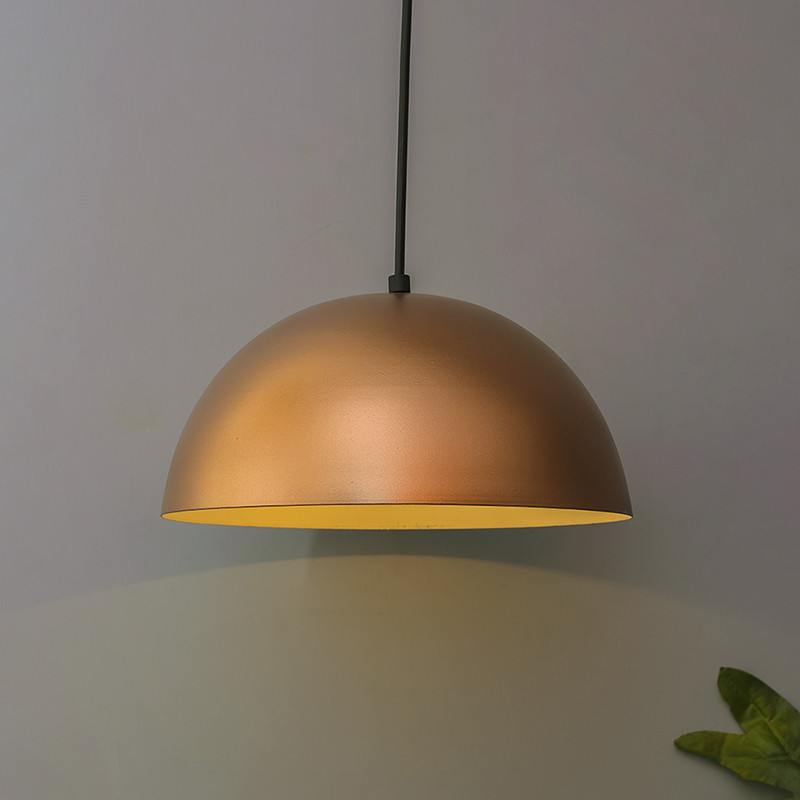 Metallic Copper Pendant Hanging Light, Hanging Lamp 10""