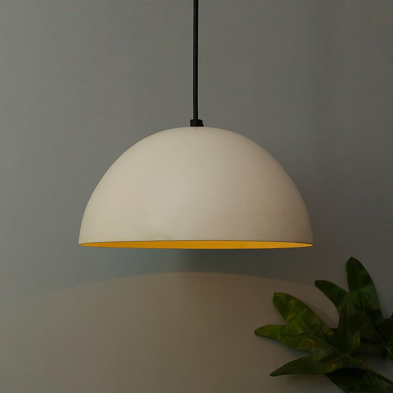 "Classy White Pendant Hanging Light, Hanging Lamp 10"""