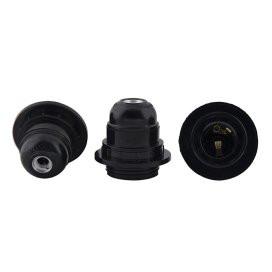 Edison Screw Type Holder, E27 Black Ring Type For Table Lamps,PACK OF 3PCS