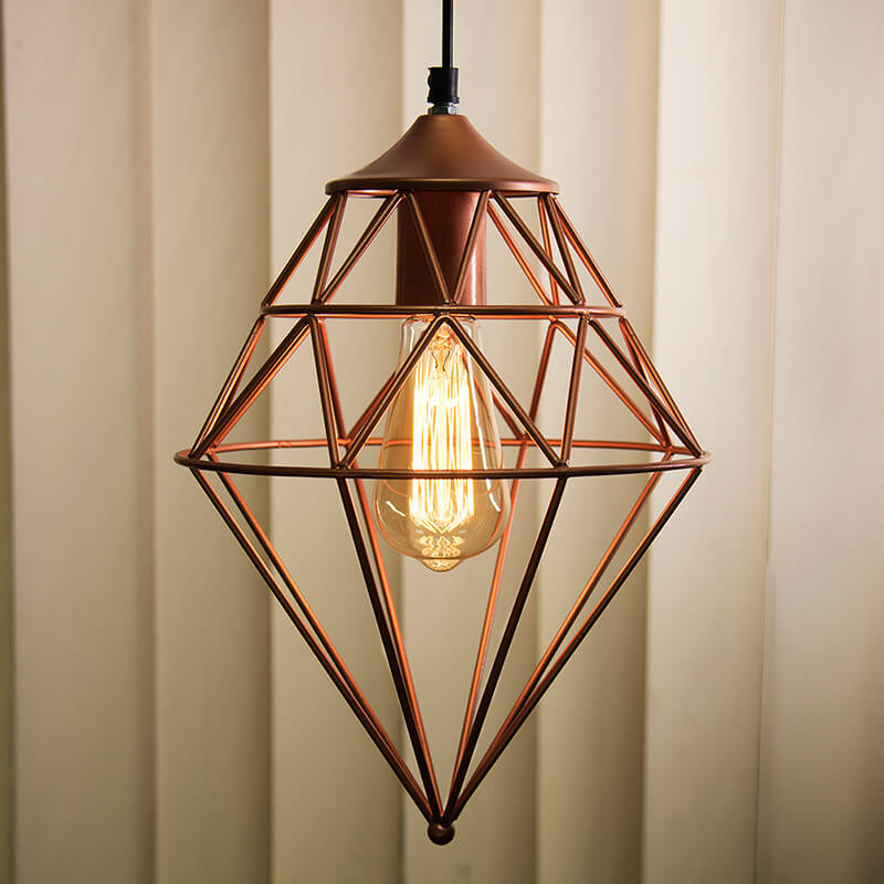 Copper Vintage Edison Filament Hanging Classic Gem , E27 Hanging Ceiling Light for LED/Filament Bulb, Decorative Urban Retro Lighting