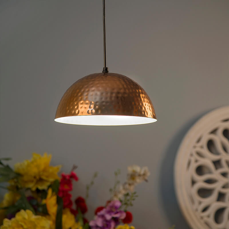 Classic Copper Hammered Pendant Light, Hanging Lights