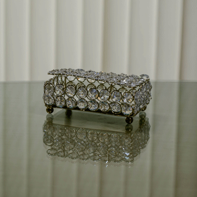 Rectangle Large Crystal Jewellery Box