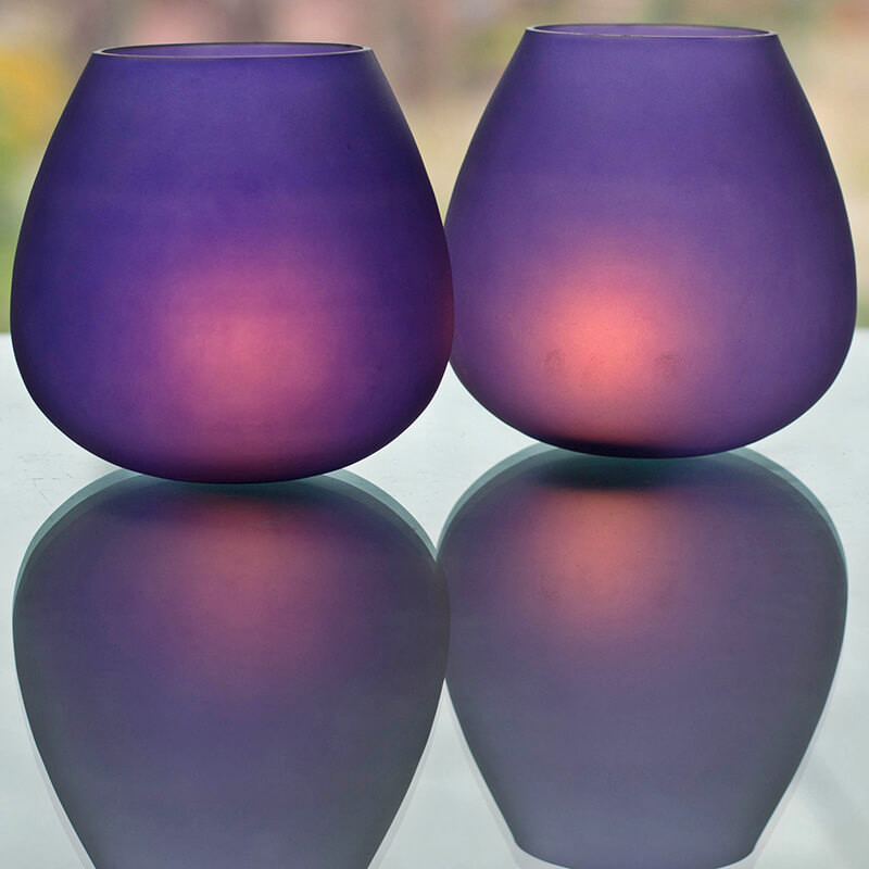 Blue Frost Pot Votive (Set of two pieces)- Small