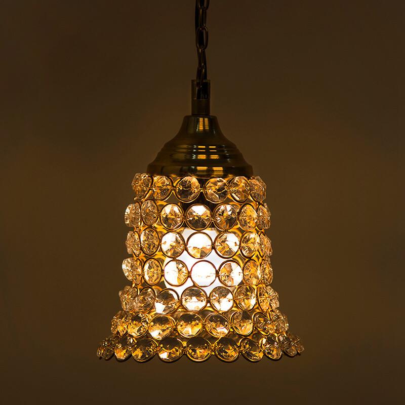 Crystal Hanging Pendant Bell Light