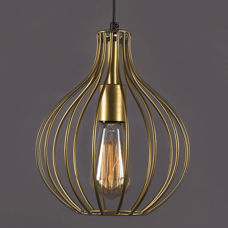 Golden Vintage Edison Filament Hanging Crown , E27 Hanging Ceiling Light for LED/Filament Bulb, Decorative Urban Retro Lighting