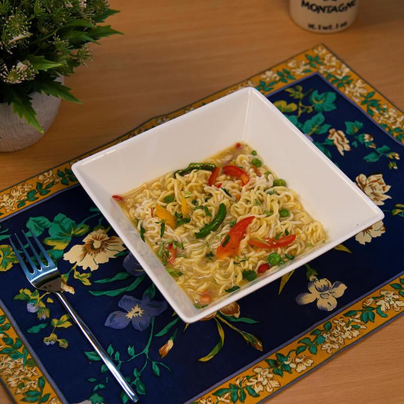 White Fine Porcelain Square Serving Bowl, Fruits, Snacks, Pasta, Dish Bowl