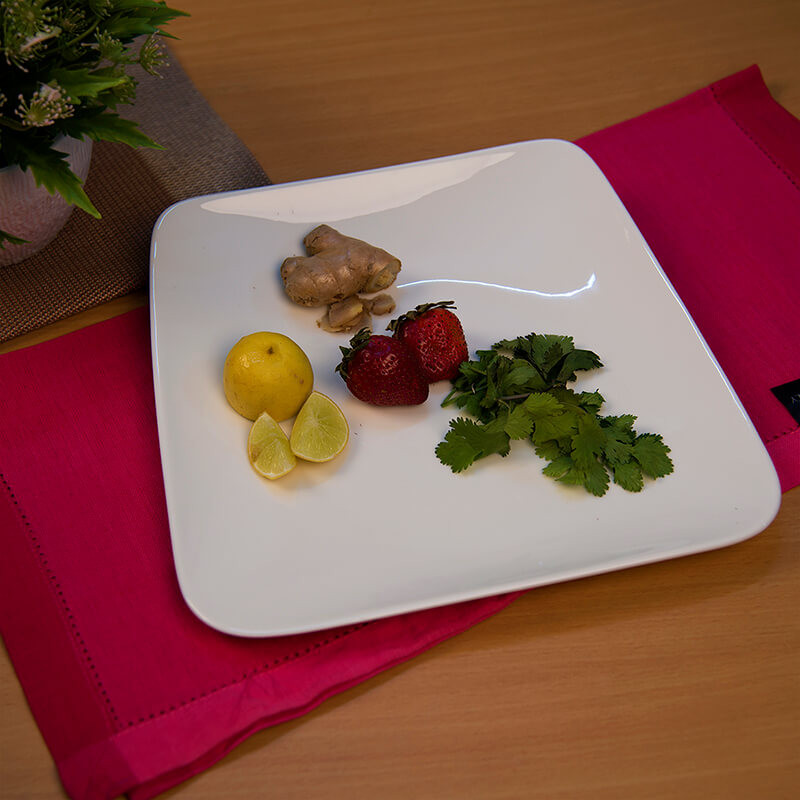 "White Fine Porcelain Serving Square Platter 10"", White Serving Tray for Chips, Nachos, Pasta"