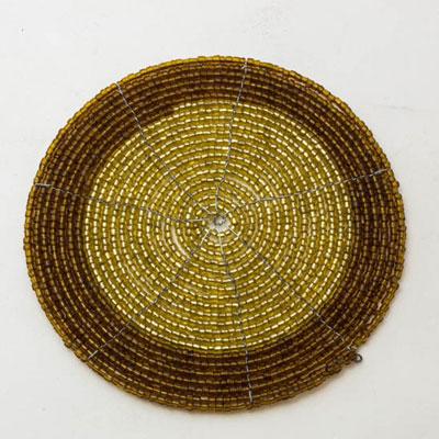 Wood Stump Spiral Bead Coaster (Set of 4 pc)