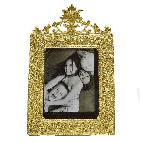 Golden Floral Crown Photoframe