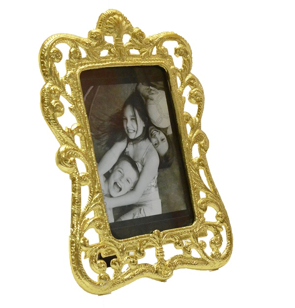 Golden Floral Vine Photoframe