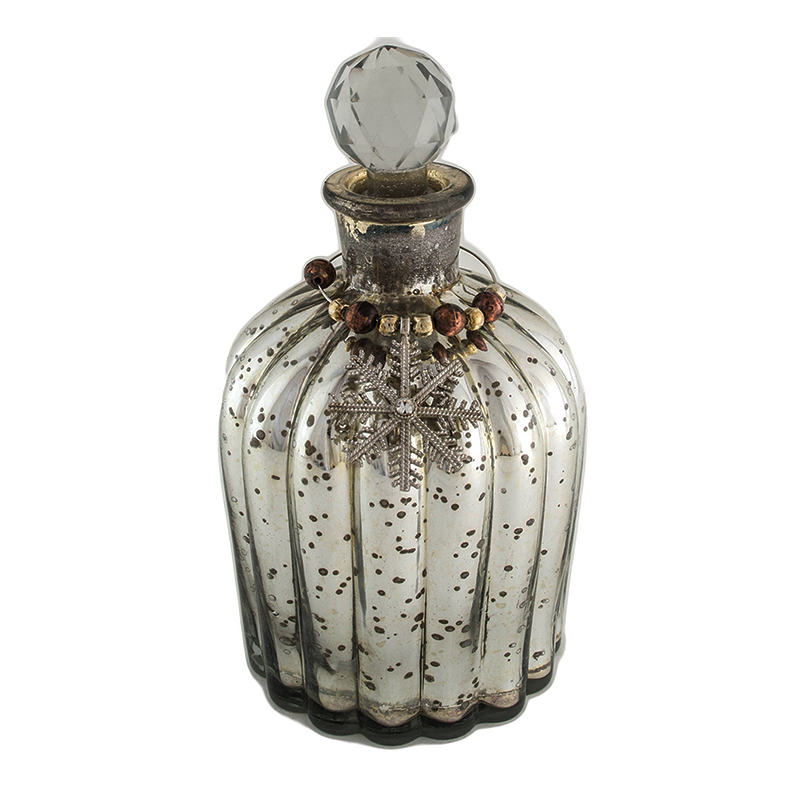 Antique Silver Coated Glass Bottle- Strips