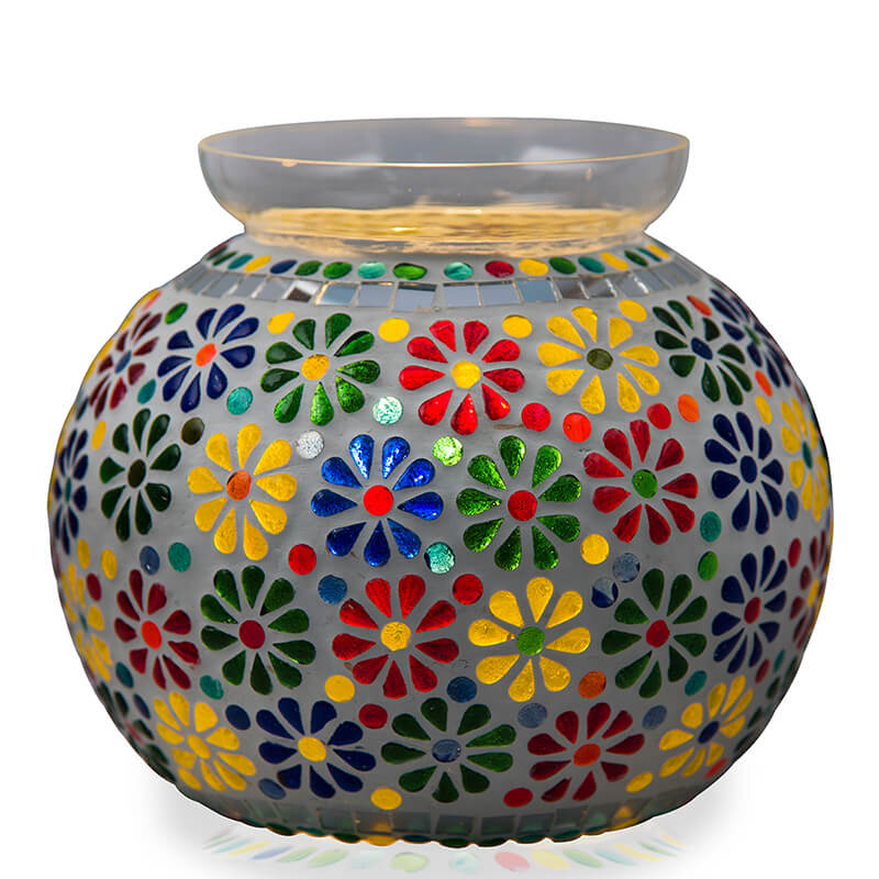 Persian Mosaic Floral Paradise Lamp, Desk Bedside Lamp Multicolor Light