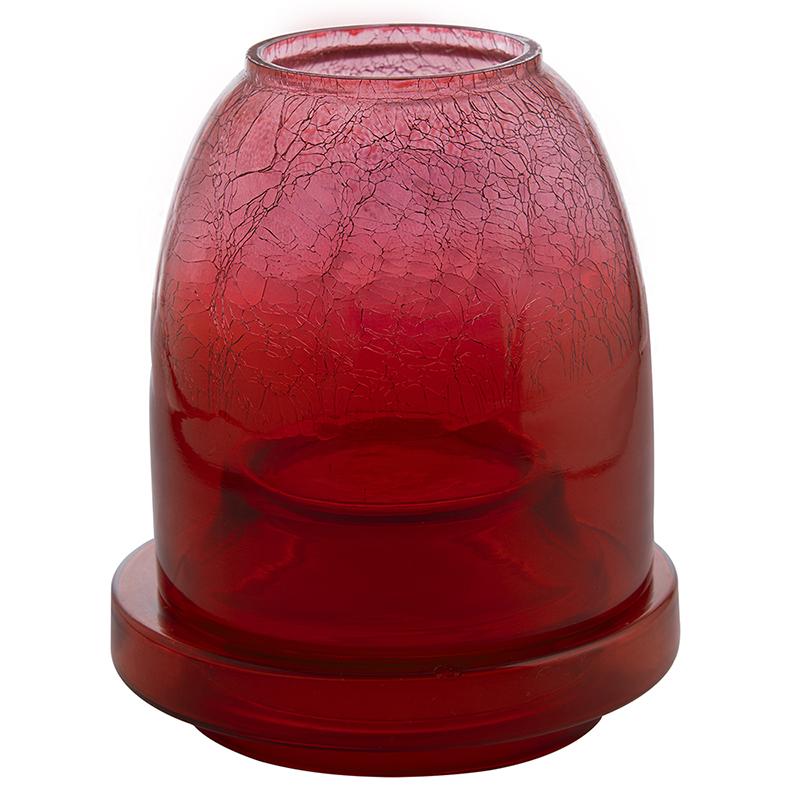 Half Crackle Shimmering Light Box Red