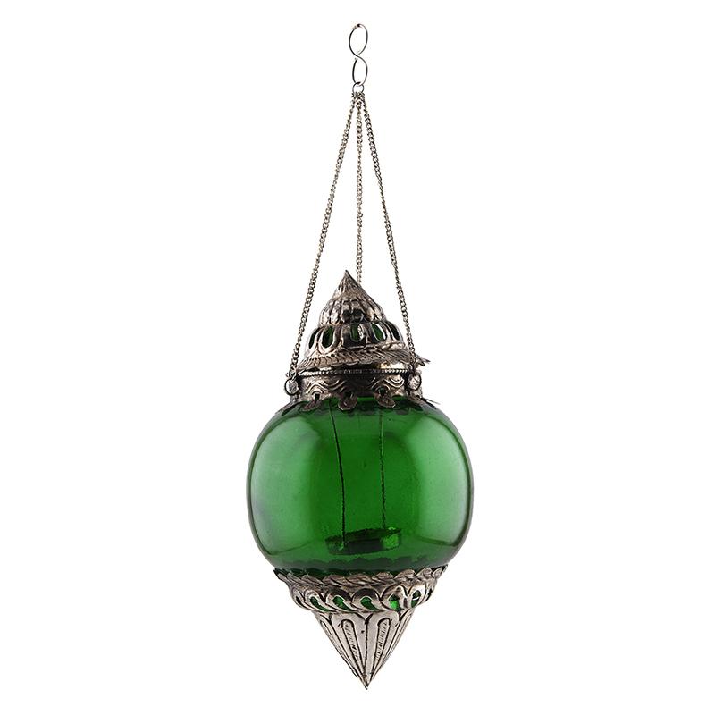 Hanging Brass Green Melon T-Light Holder