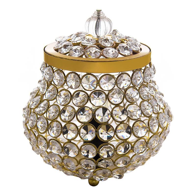 Cauldron of Light, 192 Crystal Lamp, Decorative Table lamp