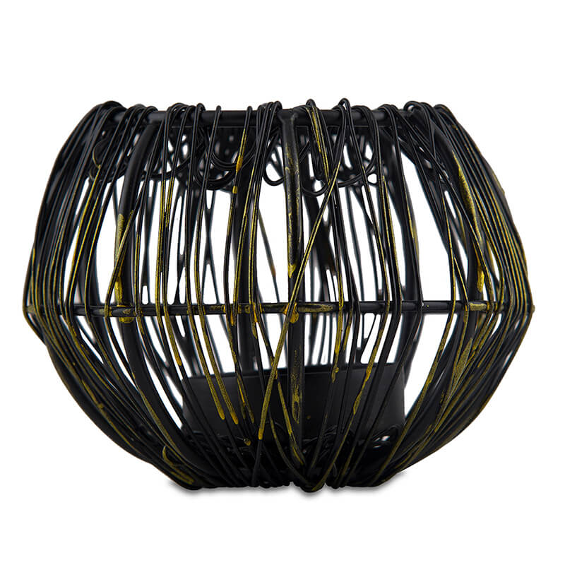Wire Tangle Small Votive Black
