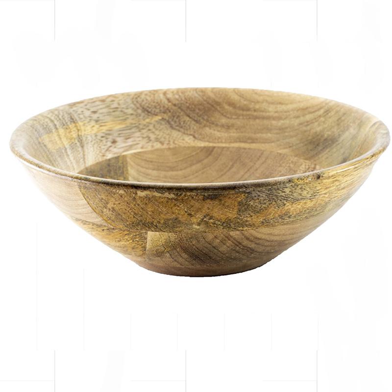 Natural Wood Bowl Flat Small