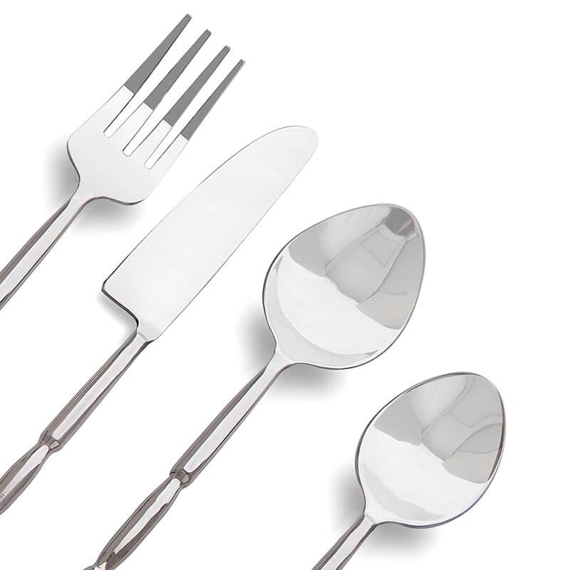 Premium Stainless Steel - Elegant Flatware 16 Pieces Regal Cuts Cutlery Set
