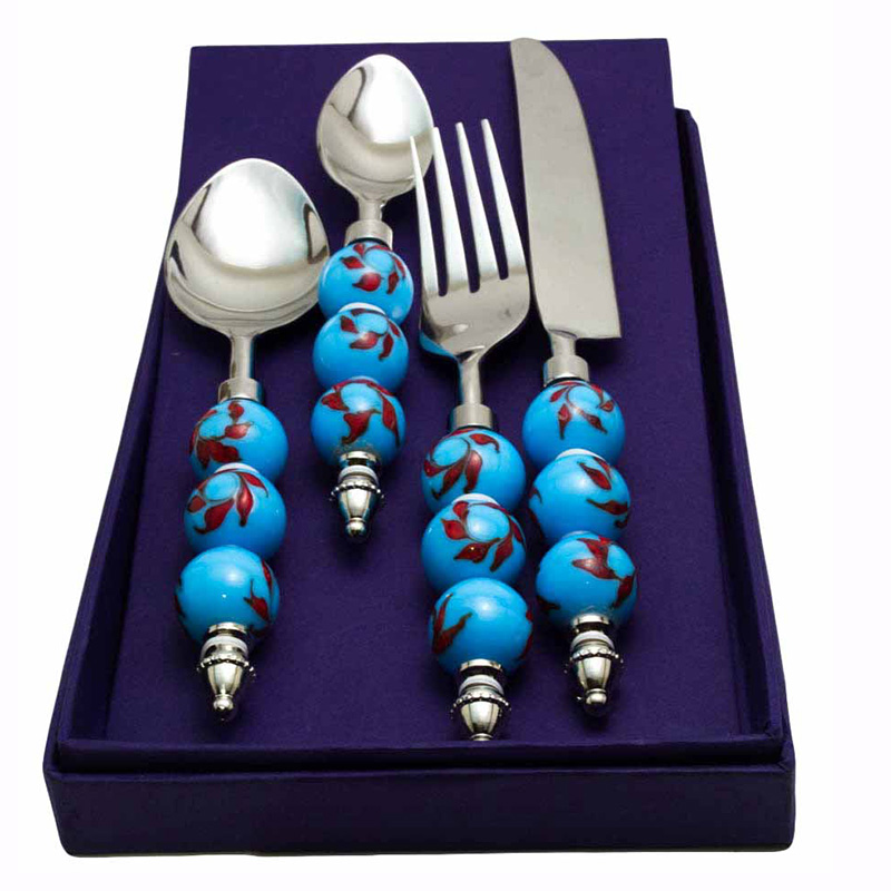 Sea Blue-Red Climber Cutlery set (16 pcs)
