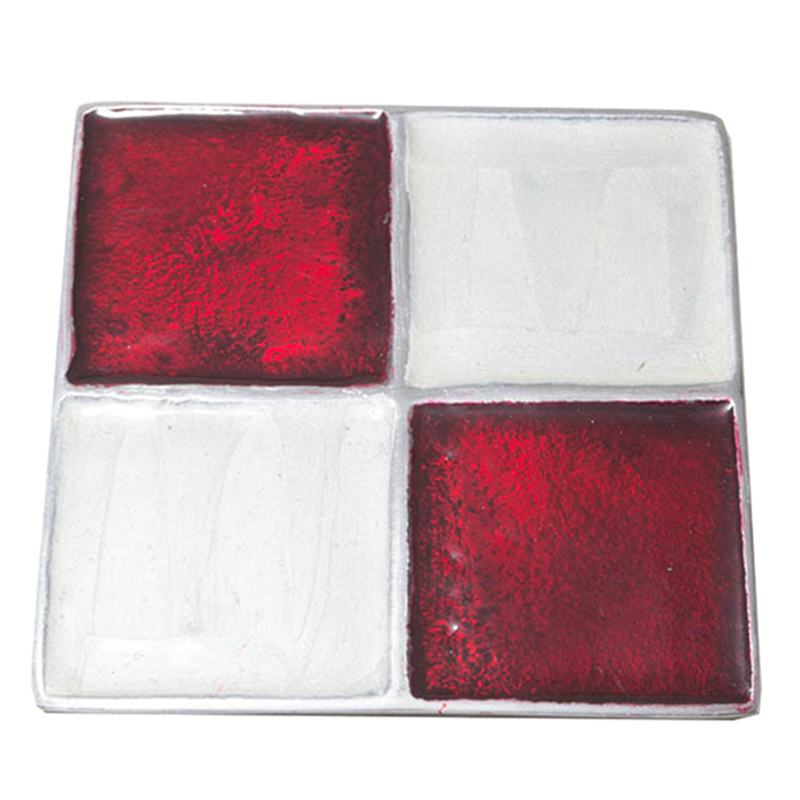 Brown-n-Cream Square Aluminium Coaster (Set of 4 pc)