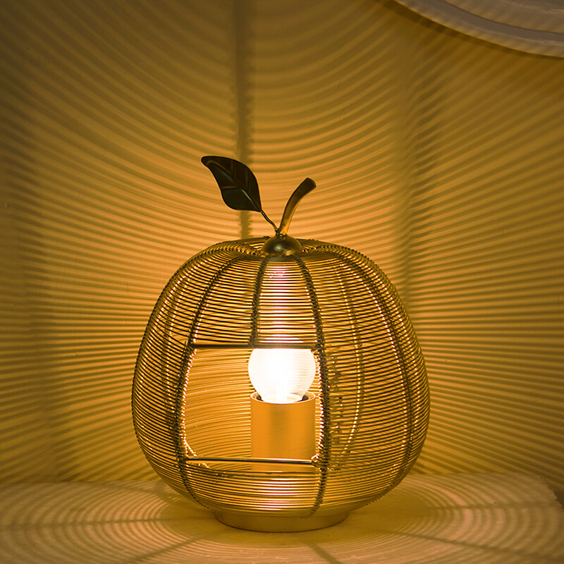 Golden Apple Contemporary Lamp