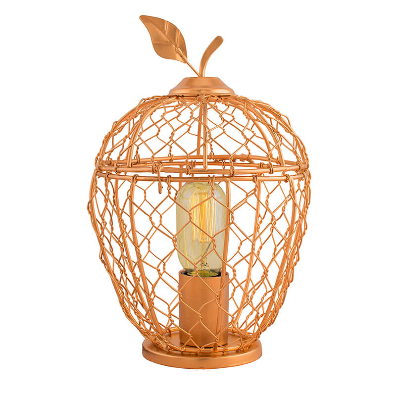 Apple Cage Industrial Filament Lamp, Antique Desk Lamps Bedside Living Room Bedroom Home Decor