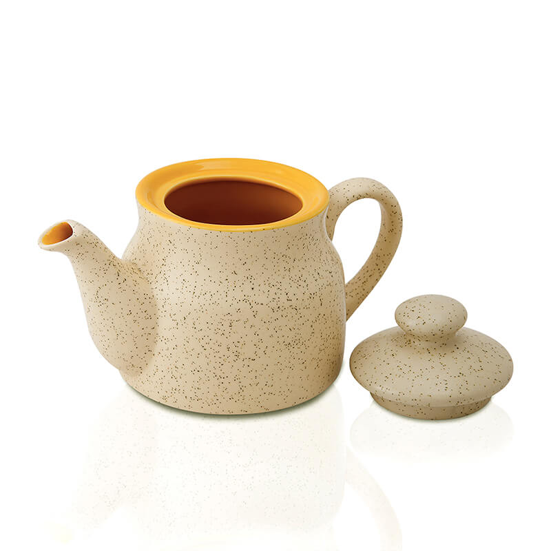 Ceramic Tea Pot, with matt marble finish