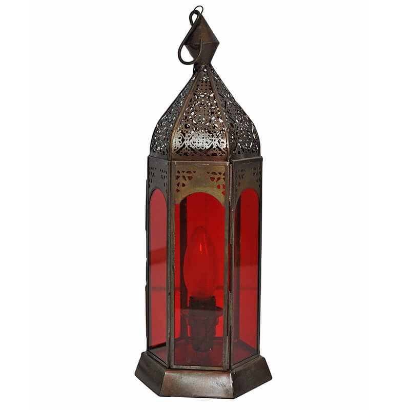 Classic Moroccan Red Lamp